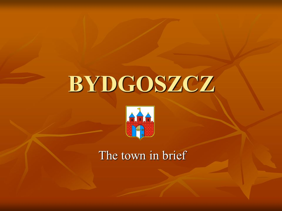 BYDGOSZCZ The town in brief