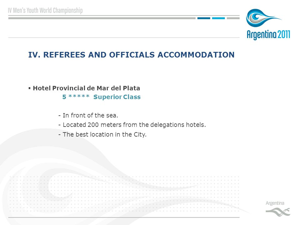  Hotel Provincial de Mar del Plata 5 ***** Superior Class - In front of the sea.