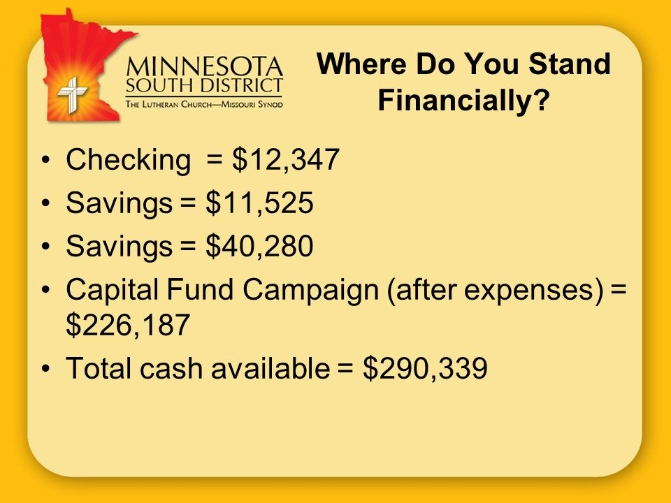 Where Do You Stand Financially.
