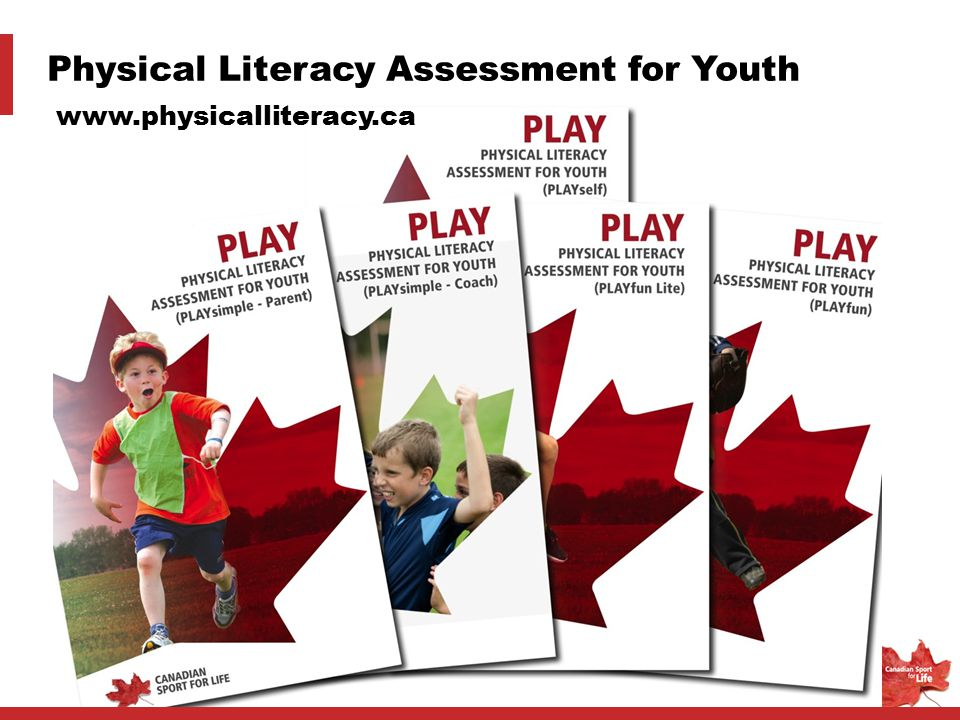 Physical Literacy Assessment for Youth www.physicalliteracy.ca