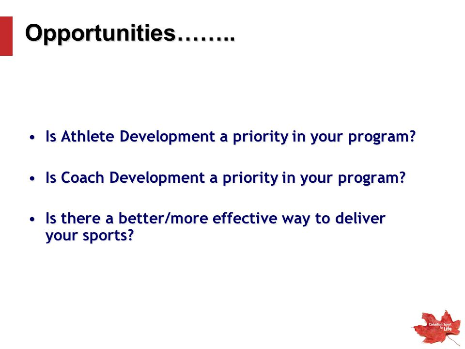 Is Athlete Development a priority in your program?Is Athlete Development a priority in your program.