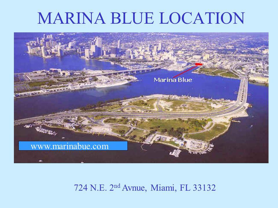 MARINA BLUE LOCATION 724 N.E. 2 nd Avnue, Miami, FL 33132 www.marinabue.com