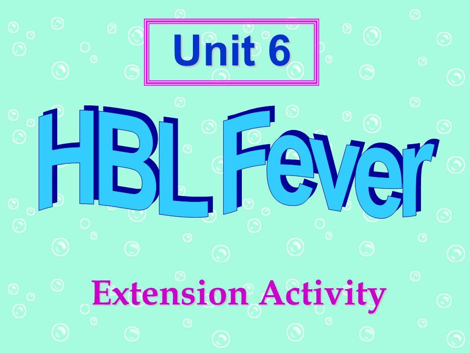 Unit 6 Extension Activity