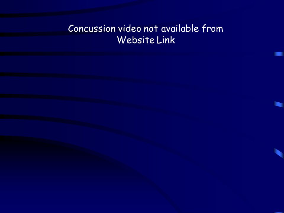 Concussion video not available from Website Link