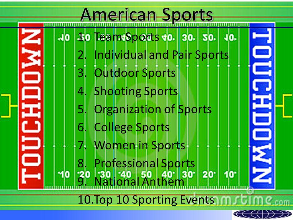 Amateur sports: Little league, high school, & club teams