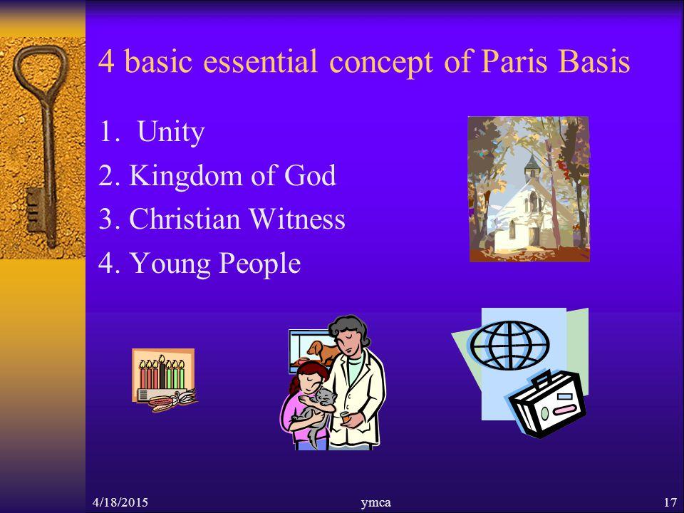 4 basic essential concept of Paris Basis 1. Unity 2.