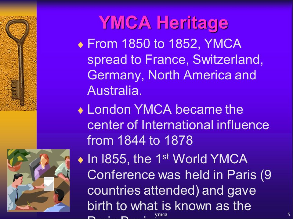 From 1850 to 1852, YMCA spread to France, Switzerland, Germany, North America and Australia.