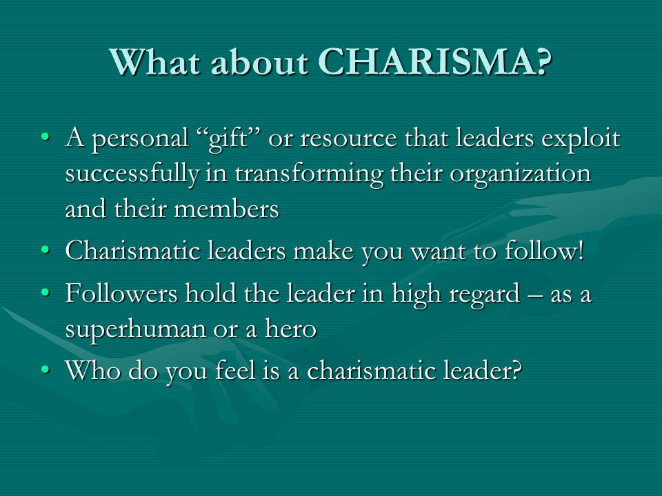 What about CHARISMA.