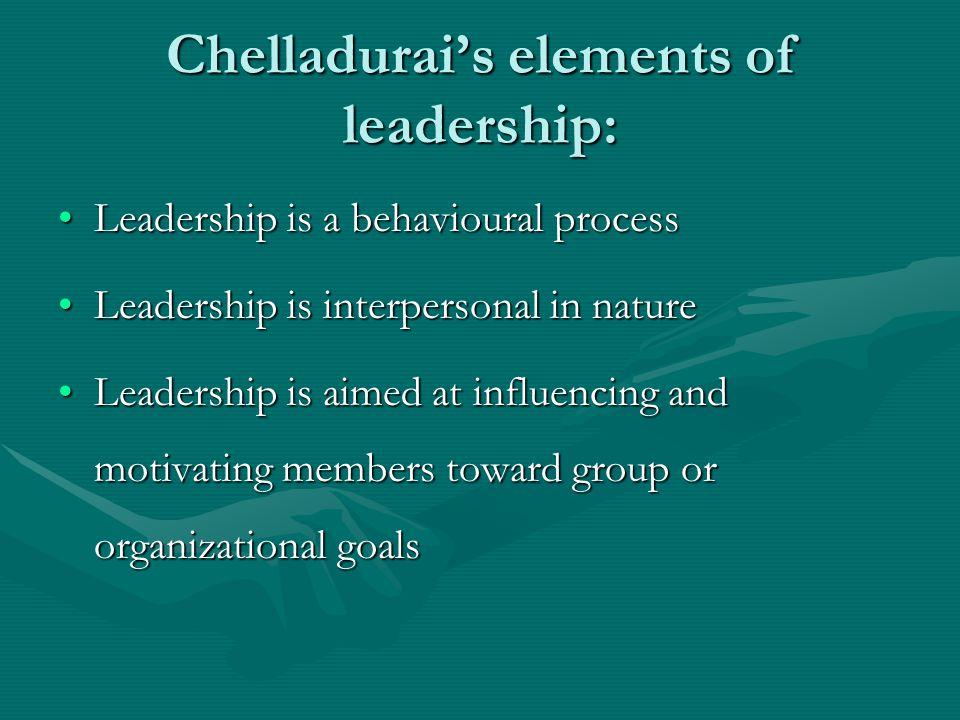 Multidimensional Model of Leadership: (Chelladurai, 1990) Situational Characteristics Leader Characteristics Member Characteristics Required Actual Preferred Performance Satisfaction AntecedentsLeader Behaviour Consequences