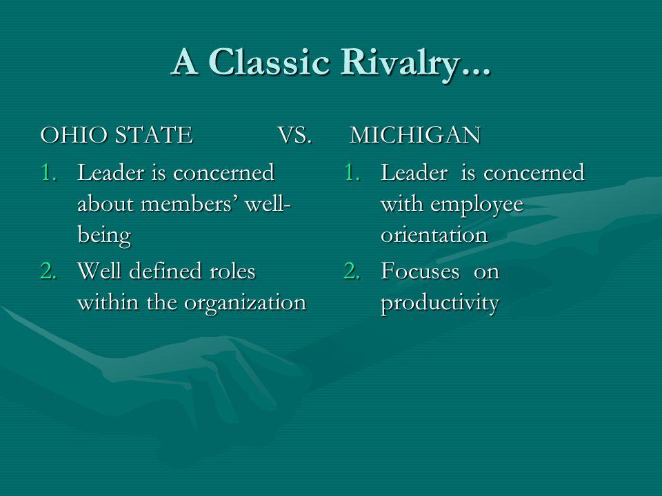 A Classic Rivalry... OHIO STATE VS.