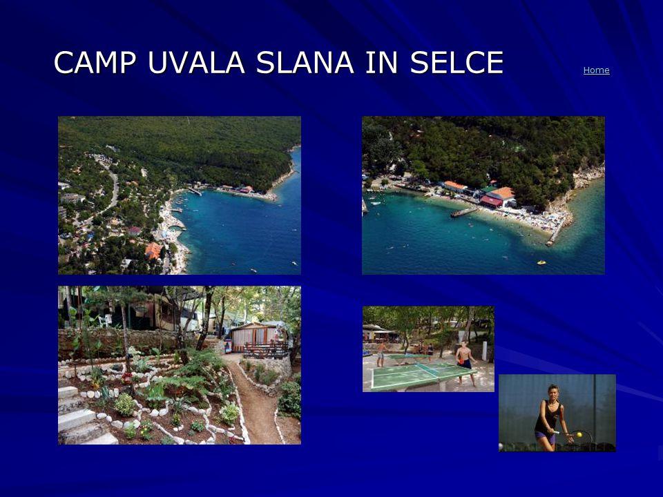 CAMP UVALA SLANA IN SELCE Home Home