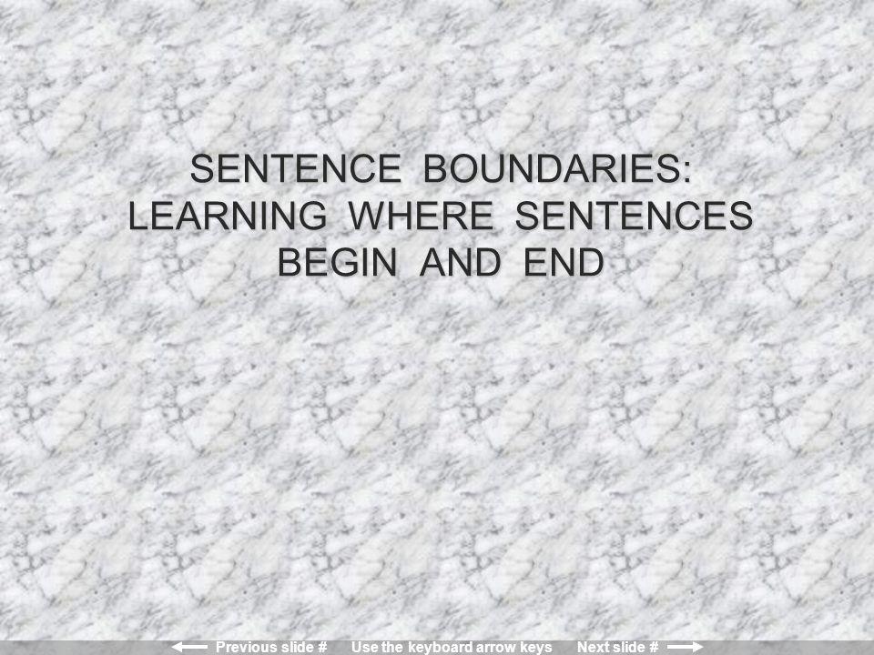 Previous slide # Use the keyboard arrow keys Next slide # Lesson 1: Verbs