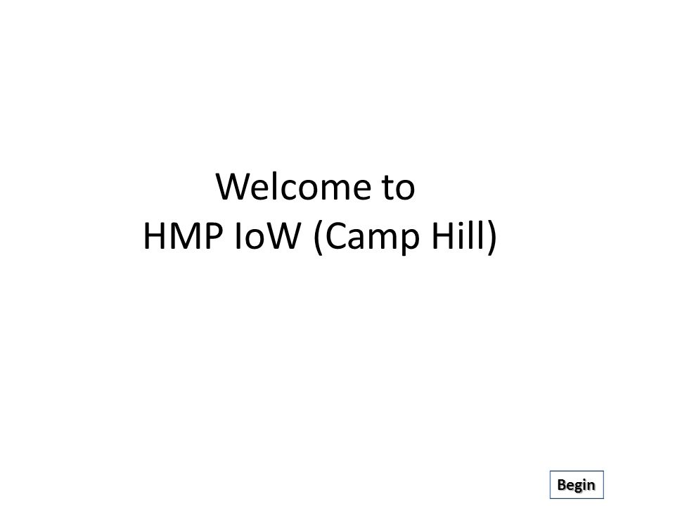 Welcome to HMP IoW (Camp Hill) Begin
