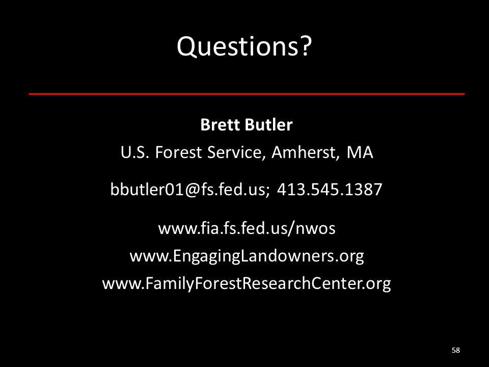 58 Questions. Brett Butler U.S.