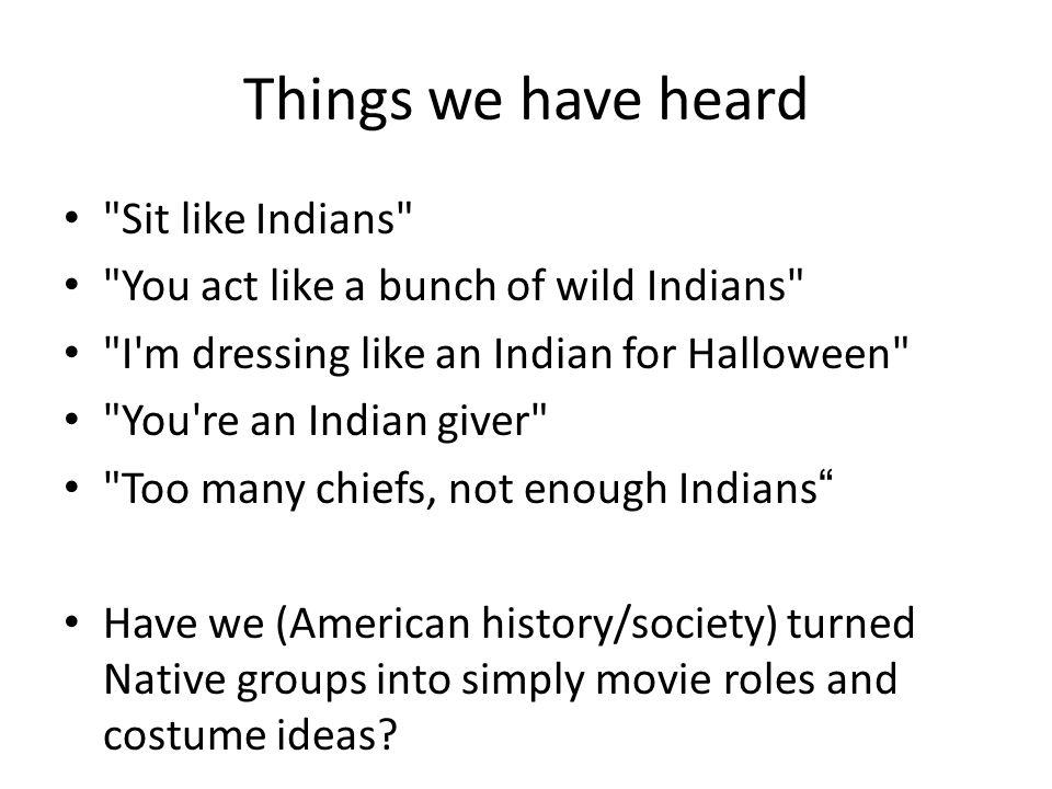 Things we have heard
