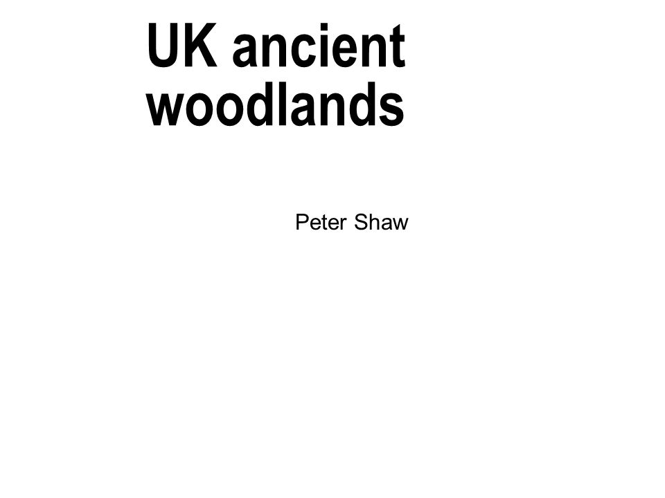 UK ancient woodlands Peter Shaw