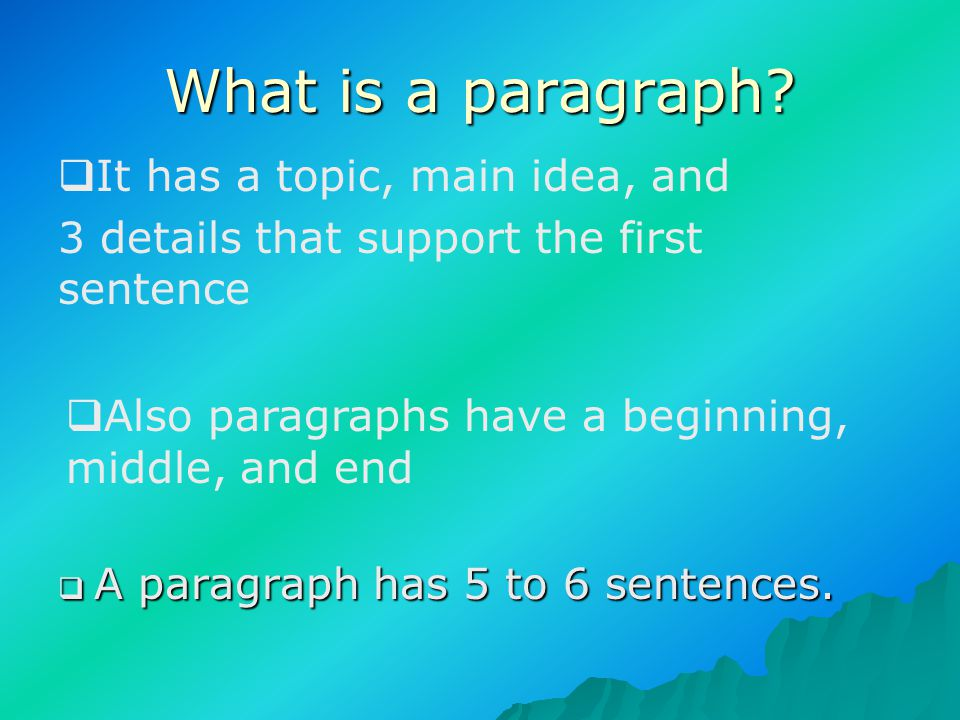 If you are in 3rd, 4th, or 5th grade and you don't know how to write a paragraph- than here is a little presentation for you!!!!!