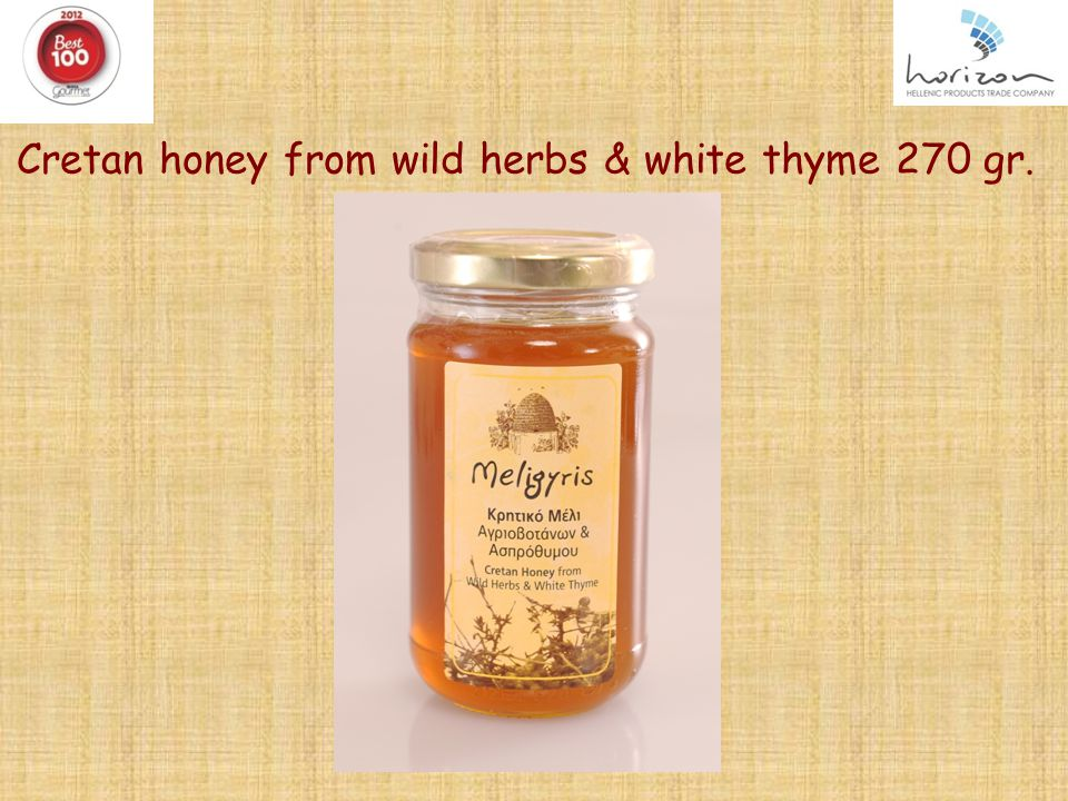 Cretan honey from wild herbs & white thyme 270 gr. f