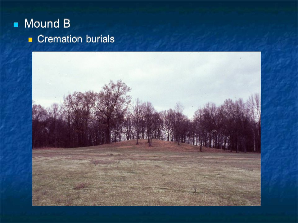 Mound B Cremation burials Mound B Cremation burials
