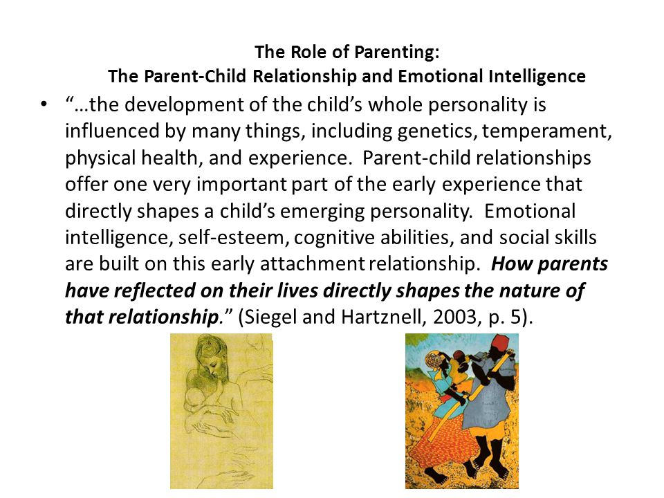 Parent-Child Styles Patterns of relating are generally classified in discrete categories but, in reality, most dimensions exist on a continuum and often more than one category is applicable.