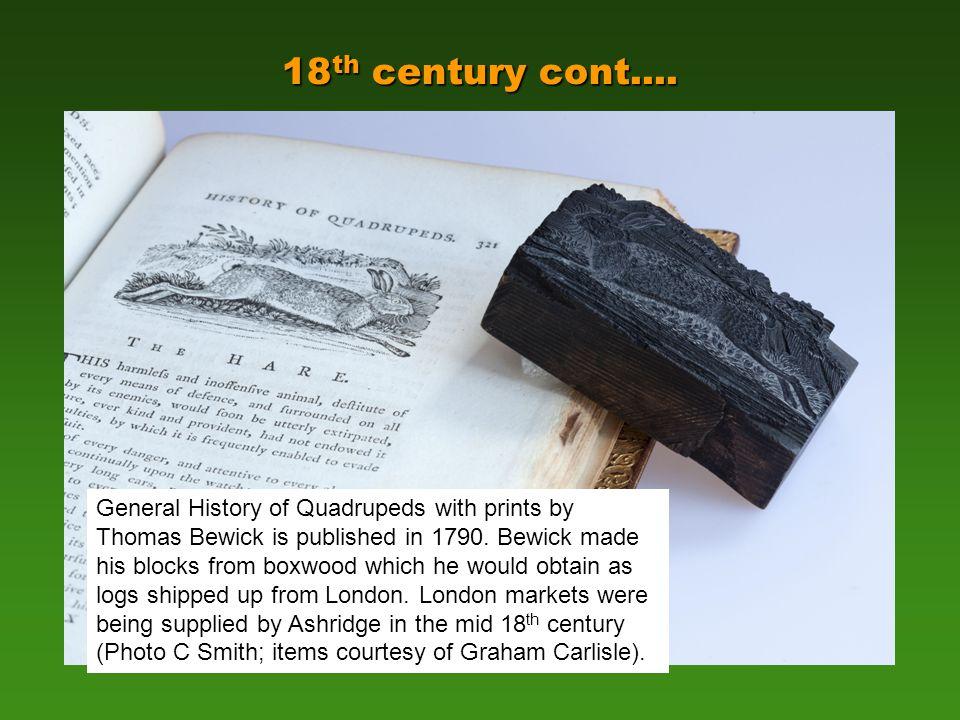 18 th century cont....
