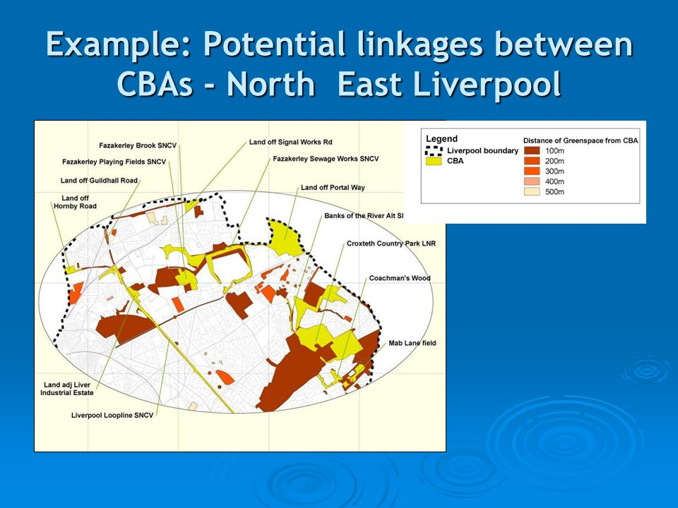 Example: Potential linkages between CBAs - North East Liverpool