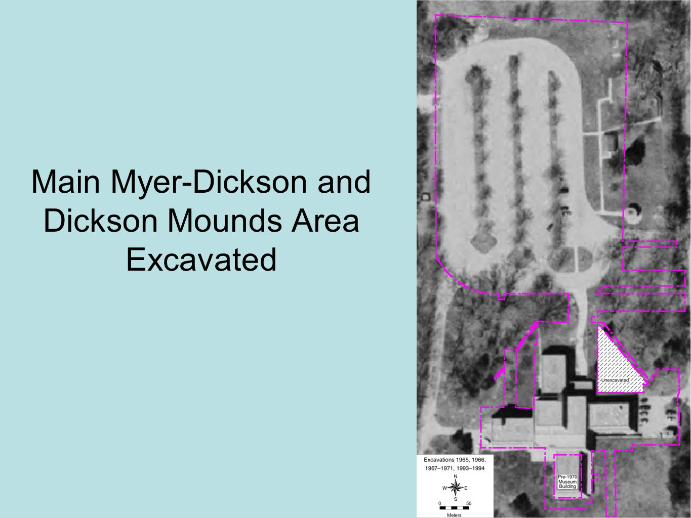 Main Myer-Dickson and Dickson Mounds Area Excavated
