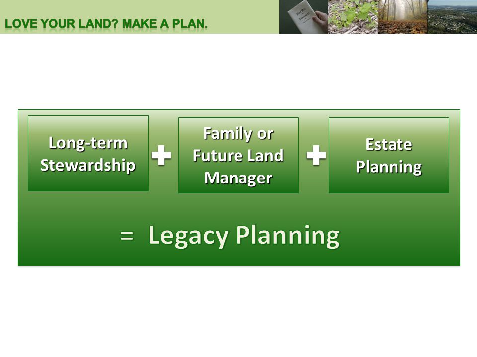 Estate Planning Family or Future Land Manager Long-term Stewardship