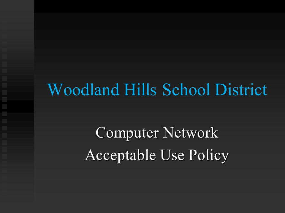 The goal in providing network and account service to students is to The goal in providing network and account service to students is to  Enable Learning Not to: Not to:  Be on YouTube or Facebook  Games