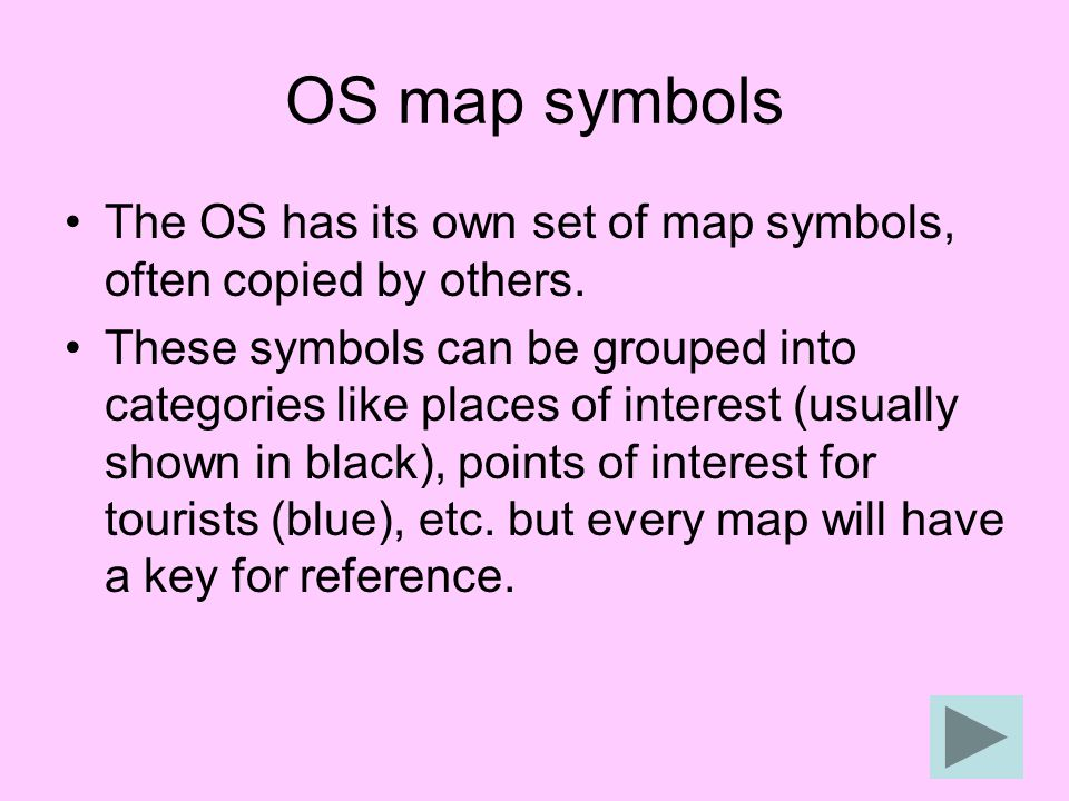 (Click to find out what) Some map symbols can tell you more than just the location of a feature.