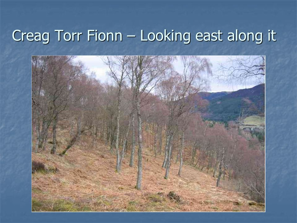 Creag Torr Fionn – Looking east along it