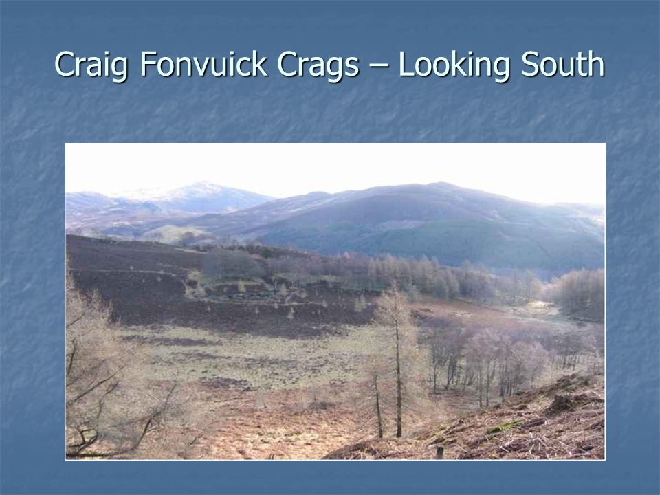 Craig Fonvuick Crags – Looking South