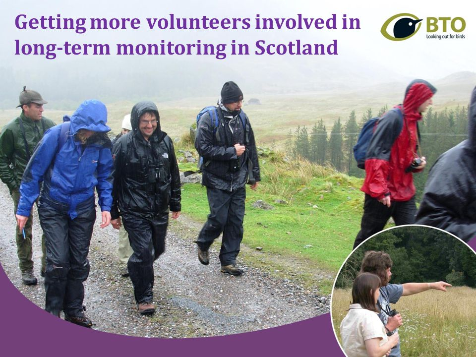 Getting more volunteers involved in long-term monitoring in Scotland