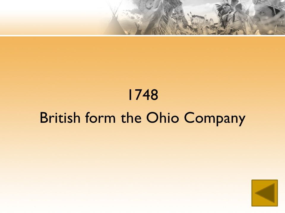 1748 British form the Ohio Company
