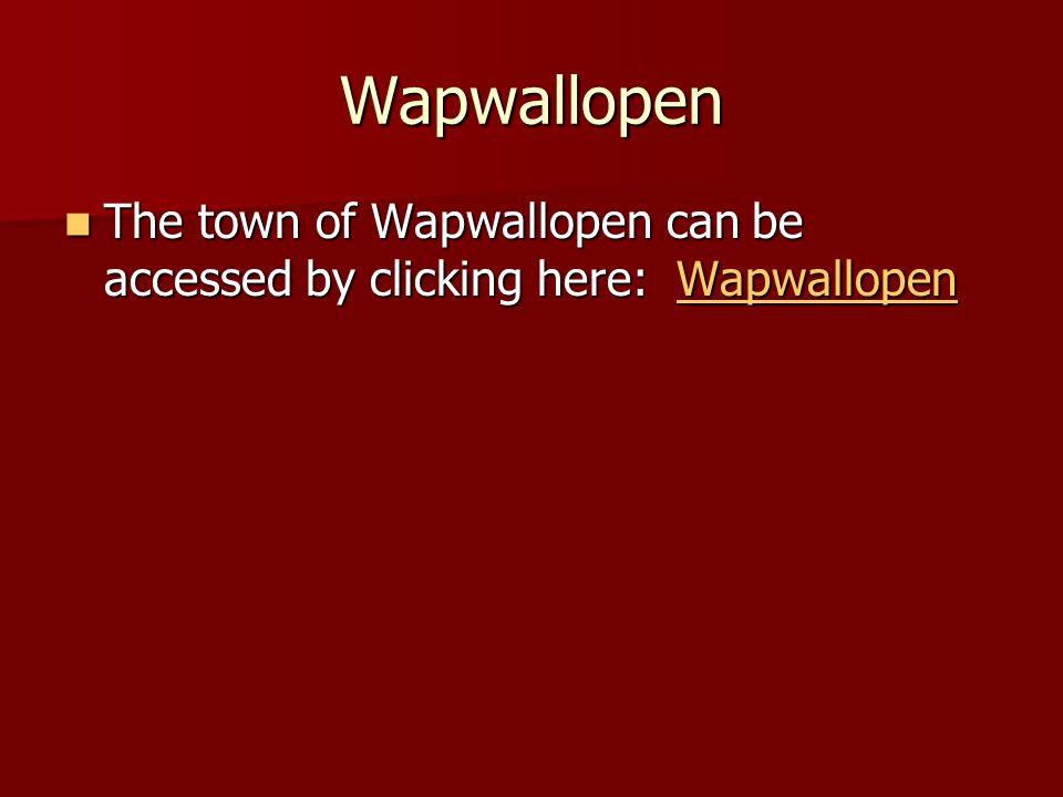 Wapwallopen The town of Wapwallopen can be accessed by clicking here: Wapwallopen The town of Wapwallopen can be accessed by clicking here: WapwallopenWapwallopen