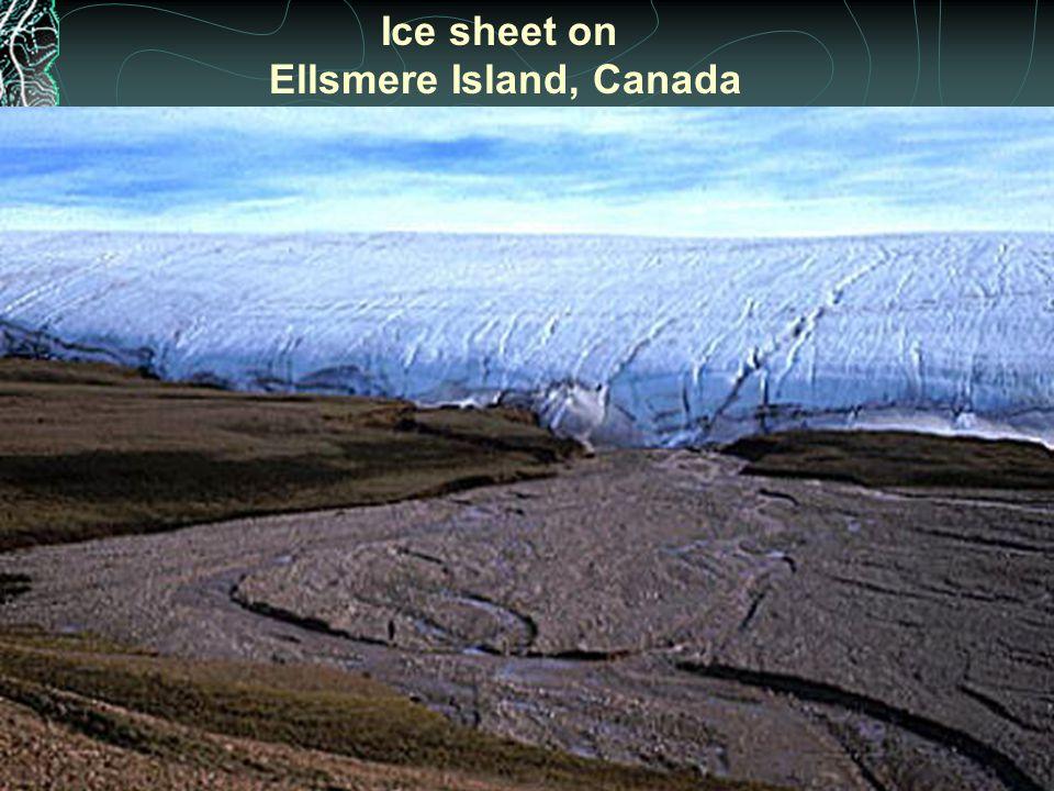 Ice sheet on Ellsmere Island, Canada