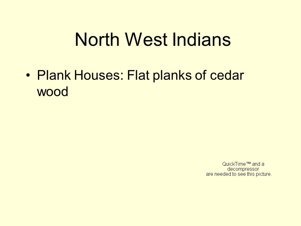 North West Indians Plank Houses: Flat planks of cedar wood