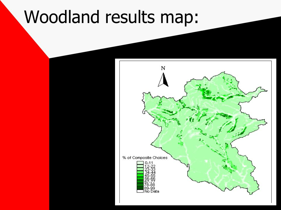 Woodland results map: