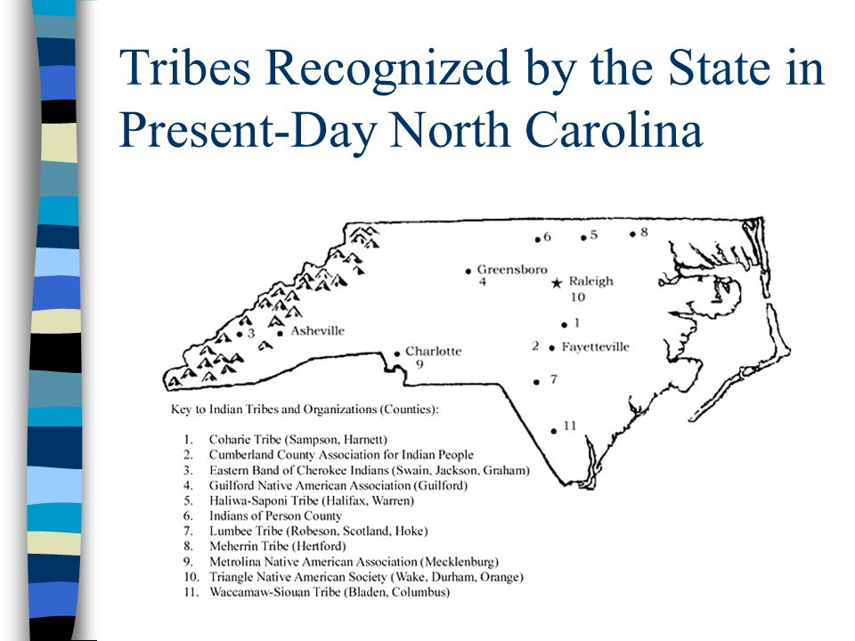 Tribes Recognized by the State in Present-Day North Carolina