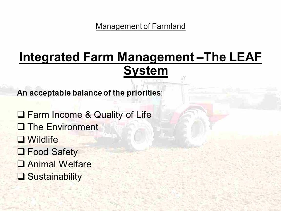 Management of Farmland Sharing our Countryside with the public and Blowing our own Trumpet