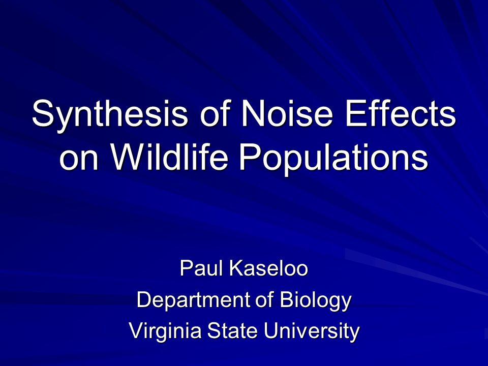 Grassland birds (cont…) Effect distances ranged between: 20-1700 m at 5,000 vehicles/day 65-3530 m at 50,000 vehicles/day (Reijnen et al., 1996; Biol.