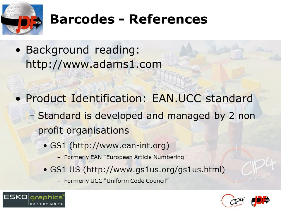 BarcodeReproParams Linear Barcodes –@Height: height of a linear barcode –@Magnification: proportional scaling in x dir (nominal x-dimension and boundaries on magnification specified in standard) –@Ratio: ratio between narrow and wide bars and spaces (allowed by some standards) Matrix Barcodes –(@ModuleHeight,@ModuleWidth): dimensions of a 'pixel' in the matrix