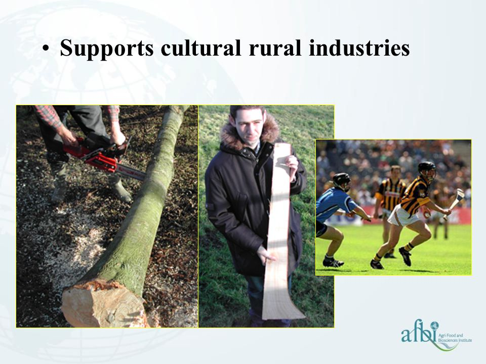 Supports cultural rural industries