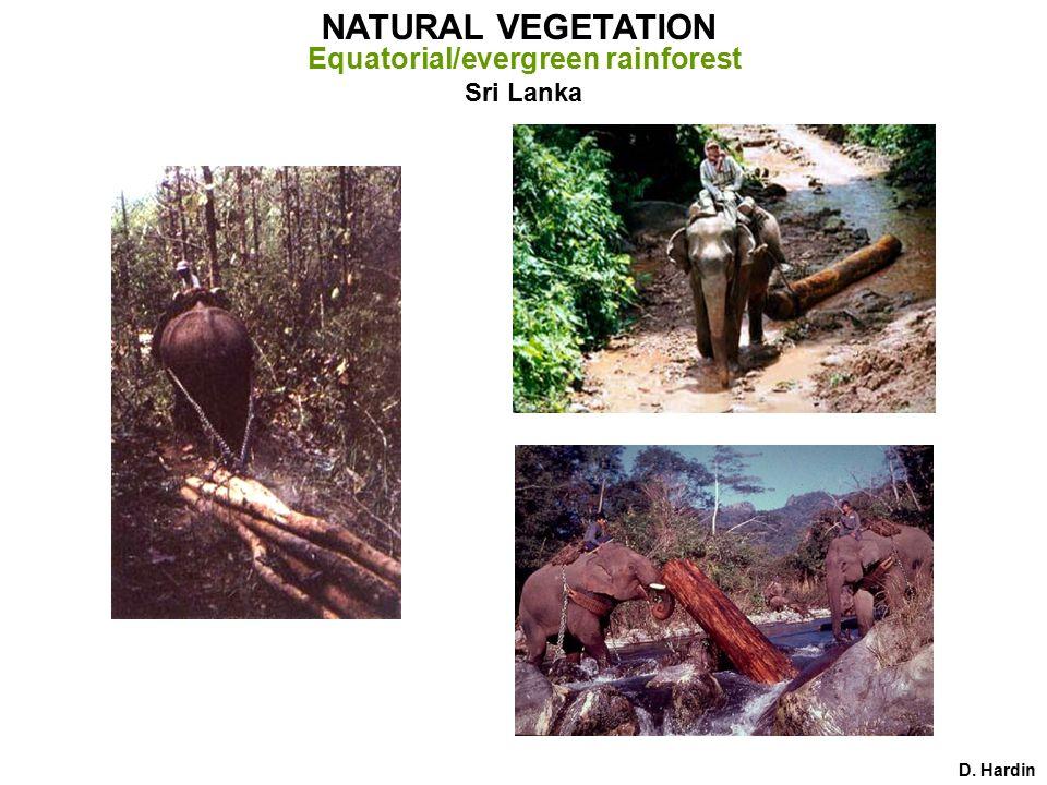 D. Hardin NATURAL VEGETATION Monsoon/deciduous rainforest