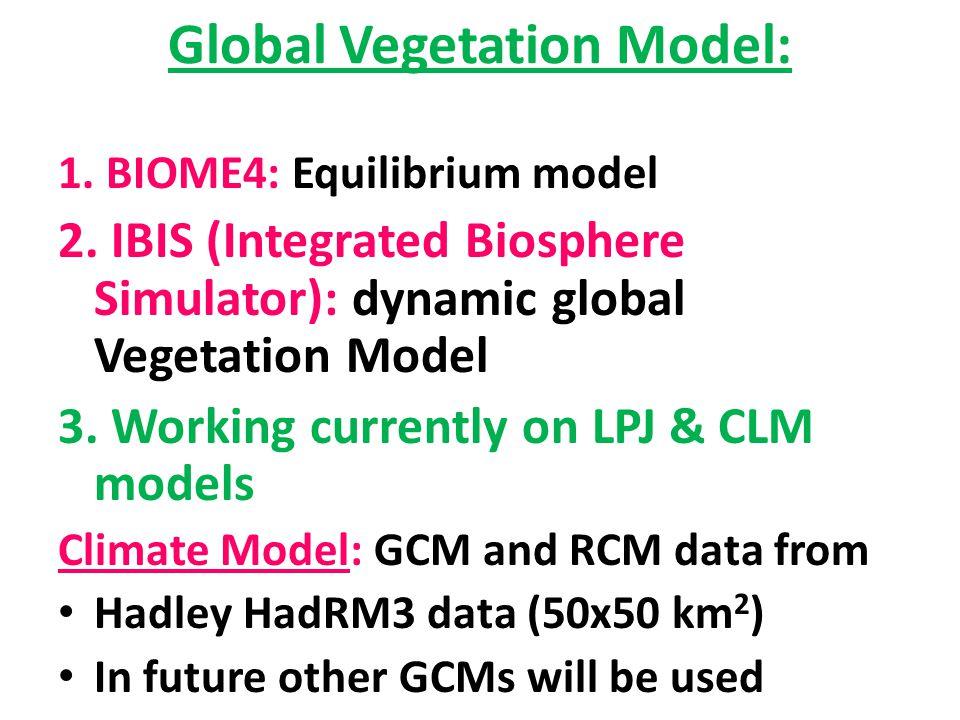 Global Vegetation Model: 1. BIOME4: Equilibrium model 2.