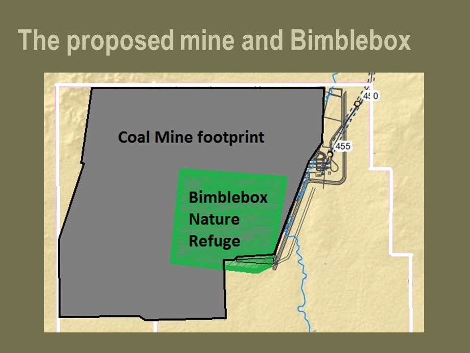 The proposed mine and Bimblebox