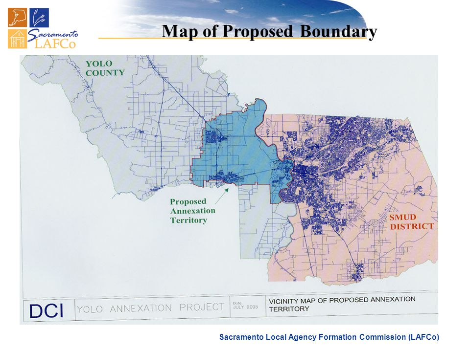 Sacramento Local Agency Formation Commission (LAFCo) Map of Proposed Boundary