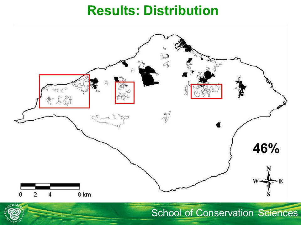 School of Conservation Sciences 13% 46% Results: Distribution