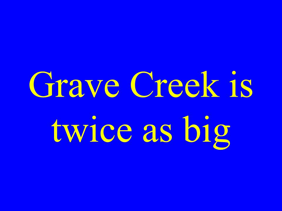 Compare the size of Grave Creek and Creil Mounds
