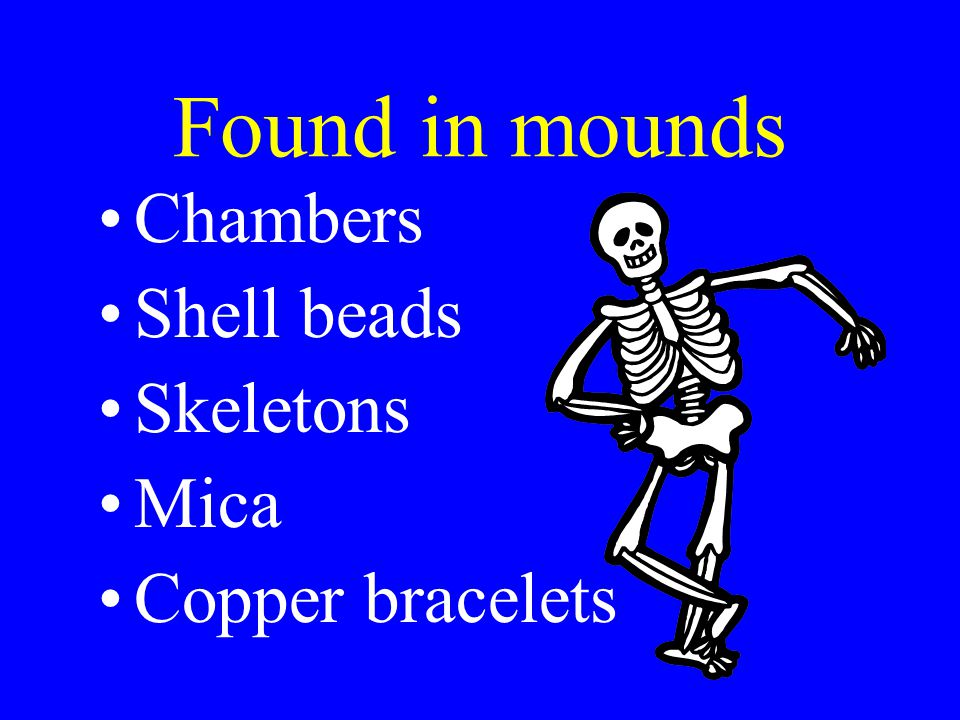Found inside the mounds
